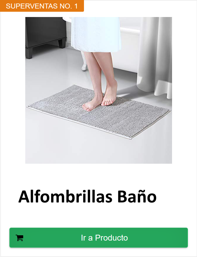 alfombrillas baño