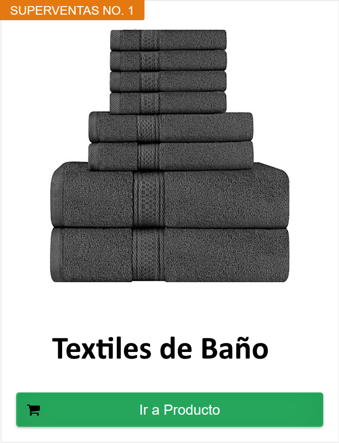 textiles baño