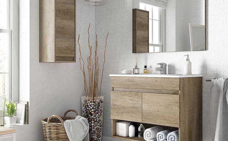 mueble-bano-roble-tips-para-instalar-en-el-bano
